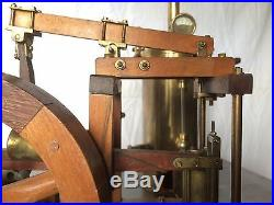 STUNNING LIVE STEAM ENGINE AND BOILER / years 1950 FROM ELMER WEERBURG PLANS