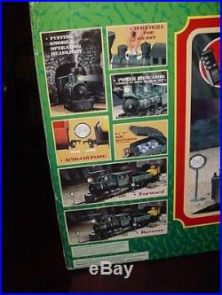 Scientific Toys Santa Fe Battery Operated train set-steam engine, cars, track