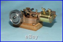 Single cylinder horizontal model steam engine marine flywheel