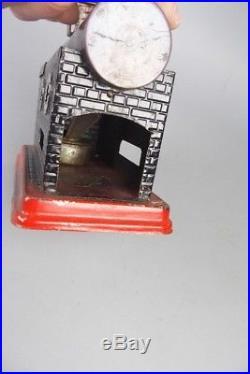 Small vintage live steam engine, german pre war tin toy