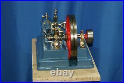 Stationary, working, Antique LARGE steam engine 1970 Dampfmaschine wilesco