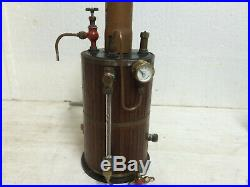 Steam Engine Boiler Vertical Maxwell Hemmens