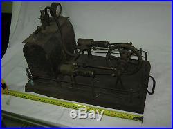 Steam Engine Custom Twin Cylinder BISCHOFF Germany Pre 1900 Large Heavy