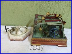 Steam Engine Driven Model Fountain Bing + Pumpstation Doll