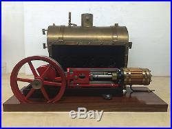 Steam Engine Motor Horizontal + Boiler