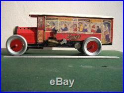 Steam Engine Tin Toy Bus 1920