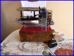 Steam engine mechanical hacksaw model vintage