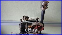 Steam engine tractor steam roll Doll & Co Germany no Marklin antique rare Bing