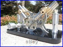 Stirling Engine Motor Model Education Toy Mini Steam Engine V4 Hot Air Generator