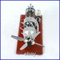 Stirling Engine Steam Motor 16 Cylinder Model Generator Creative Educational Toy