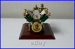 The V4-cylinder steam engine (with Steam boiler feed pump)