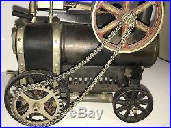 Tin Toy DC Doll Vintage Antique Steam Traction Engine Locomobile Dampfmachinen