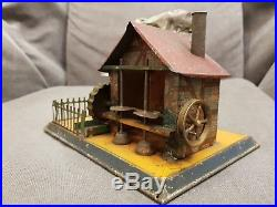 Tinplate Working Watermill Steam Engine Accessory, Germany, 1900's