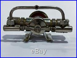 Tmy Vintage Twin Piston Cylinder Steam Engine Toy