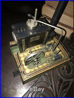 Toy Steam Engine Plant Model Double Piston 1900s Rare German Working