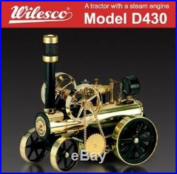 Tractor with Wilhelm shredder company steam engine Model D430 F/S Japan