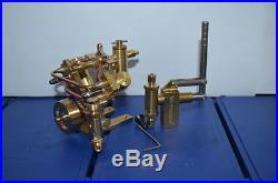 Twin Cylinde Steam Engine with feed pump+Steam Engine Water Pump M8 (2 sets)
