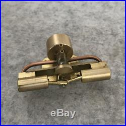 Twin Cylinder Shaft Ventilation Steam Engine Motor Toy DIY Micro Model Generator
