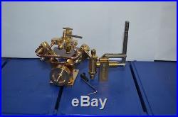 Twin Cylinder Steam Engine Model+Live Steam Engine Water Pump M8 (2 sets)