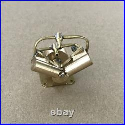 Twin Cylinders V type Steam Engine Model Toy Mini DIY Steam Heat Generator Motor