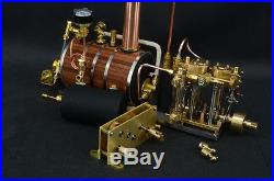 Two-cylinder steam engine with Boiler With Brass Decelerating Box