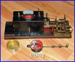 Unknown Antique Live Horizontal Table Top Boiler and Model Steam Engine