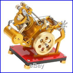 V1-45 Stirling Engine Heat Steam Power Model withSOHC Motor Device Science Toy