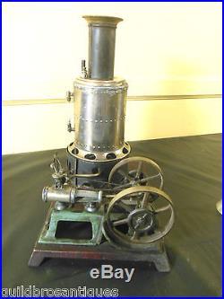 VINTAGERARE CAST IRON AND BRASS WEEDEN #49 STEAM ENGINE VERTICAL BOILER TOY