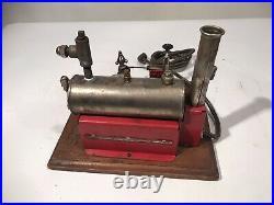 VINTAGE 1940s WEEDEN NO. 44 TOY ELECTRIC STEAM ENGINE ON WOOD BASE NICE