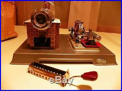 VINTAGE 1960's WILESCO D10 Toy Steam Engine Western Germany with instructions