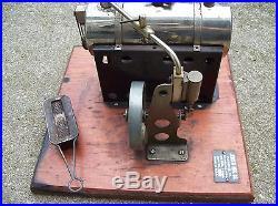 Vintage Antique Jensen 75 Toy Steam Engine Early Type