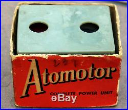 VINTAGE ATOMOTOR HIT MISS STYLE COIL ELECTRIC MOTOR 4 STEAM ENGINE TOY Box