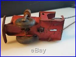 VINTAGE COLLECTIBLE c. 1900s STEAM ENGINE TRAIN FLOOR PUSH PULL TOY STEEL