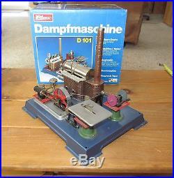 VINTAGE DAMPFMASCHINE WILESCO D101 STEAM ENGINE + M73, M74, M75 & M76 ACCESSORIES+