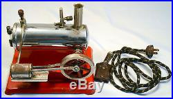 VINTAGE EMPIRE TOYS ELECTRIC LIVE STEAM ENGINE BOILER No. 43 With WORKING CORD