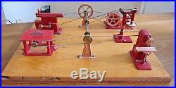 Vintage Jensen Mfg Steam Engine #100 Tool Box Work Shop Metal Tin Toy Accessory