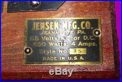 VINTAGE JENSEN MODEL 35 LIVE STEAM ENGINE RUNS GREAT