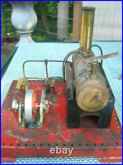 VINTAGE MAMOD STEAM ENGINE WithJENSEN PULLEY BAR &-FIVE WORKSHOP TOOLS