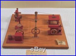 VINTAGE METAL JENSEN MFG SEARLE MODEL OF MACHINE SHOP FOR STEAM ENGINE