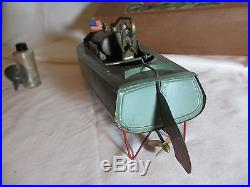 VINTAGE MISS LIBERTY SPEED BOAT TOY PRE WAR JAPAN CK TOYS LIVE STEAM ENGINE BOX