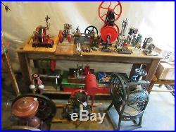 VINTAGE ORIGINAL 1930's EMPIRE STEAM ENGINE TOY WINDMILL METAL WARE CO. WIS. NOS