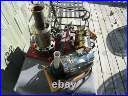 VINTAGE ORIGINAL 1940's JENSEN MFG. CO. TOOL SHOP RUN BY A TOY STEAM ENGINE