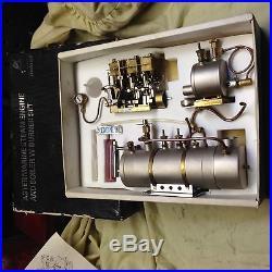 VINTAGE STEAM ENGINE (ASTER) 3 CYL BOILER &BURNER. 1980 NEW UNUSED OIL FUNNELetc