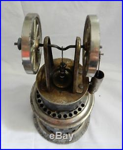 VINTAGE WEEDEN CALORIC OR HOT AIR DOUBLE WHEEL TOY STEAM ENGINE #22