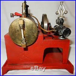 VINTAGE WEEDEN CAST IRON AND BRASS TOY STEAM ENGINE #648