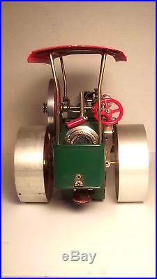 Vintage Wilesco Old Smokey W. German Steam Engine Steam Roller D36-good Cond