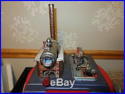 Vintage Wilesco Steam Engine Toy Made In Germany With Marx Machine Shop Nice
