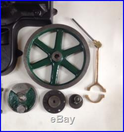VTG Live Steam Engine Parts Kit One Lot Unknown Maker 6-7/8 Wheel Iron Bronze