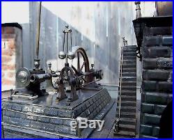 Very Large 1890s ERNST PLANK Steam Plant Steam Engine Germany
