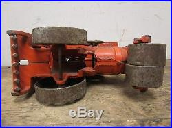 Vintage 1930s Hubley Huber Steam Engine Roller Cast Iron Toy